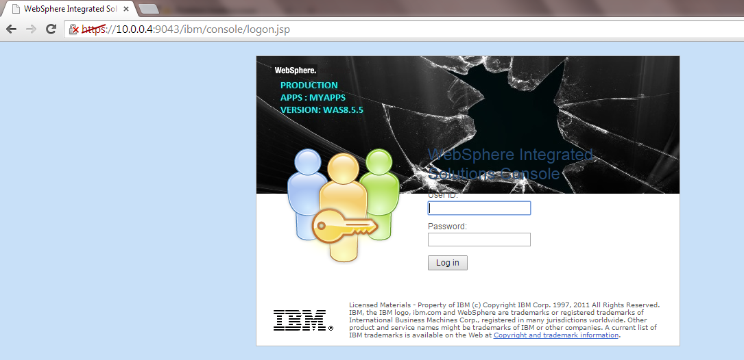 Background , Websphere , isclite.ear